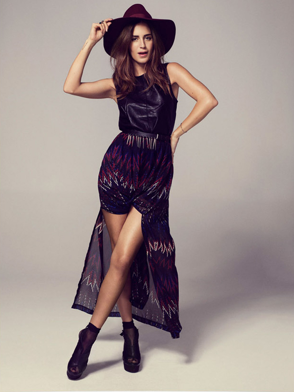 Gala González for Gina Tricot Holiday 2012 Collection