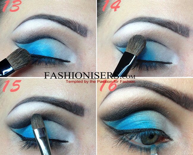Party Makeup: Gradient Blue Cut Crease Eye Makeup Tutorial