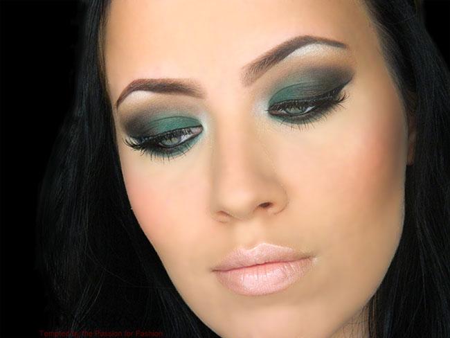 Emerald Green Smokey Eye Makeup Tutorial Fashionisers