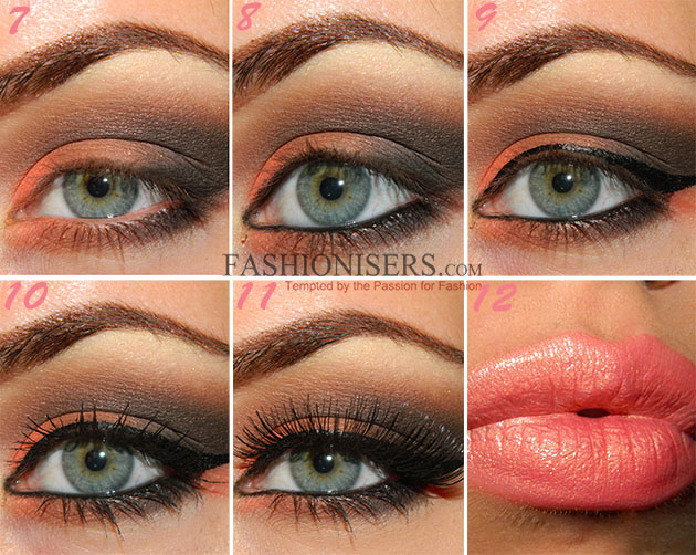 orange amp brown smokey eye makeup tutorial fashionisers