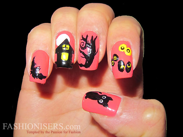 Last Minute Halloween Nail Art Designs