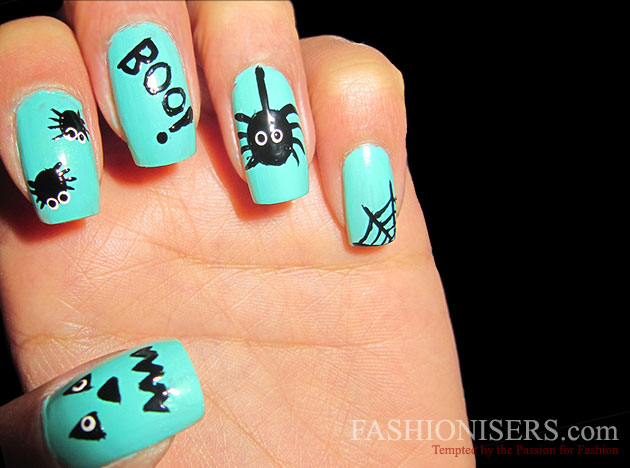 Last Minute Halloween Nail Art Designs - Last Minute Halloween Nail Art Designs Fashionisers