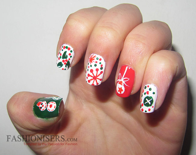 11 Cute Christmas Nail Art Designs - 11 Cute Christmas Nail Art Designs Fashionisers