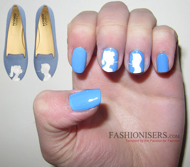 Chiara Ferragni Shoes Inspired Nail Art Designs: Spaghetti Kiss Nails