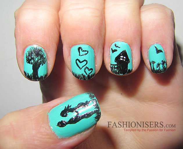 17 Love-Inspired Valentine's Day Nail Art Designs: Love Story Nails