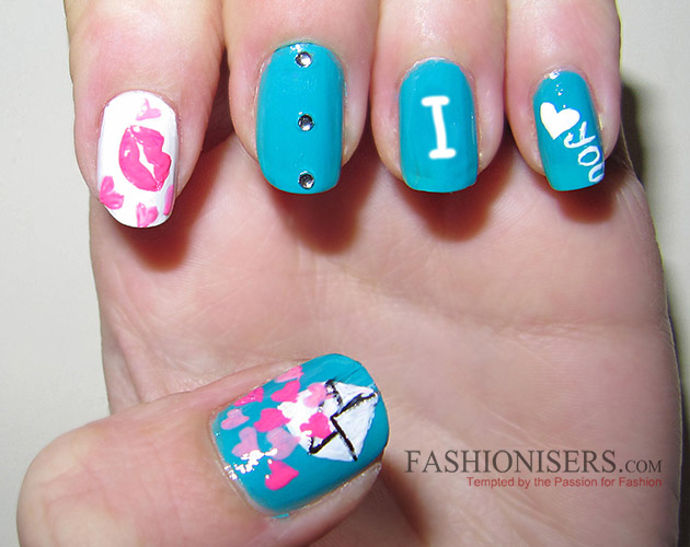 17 Love-Inspired Valentine's Day Nail Art Designs: Love Letter Nails