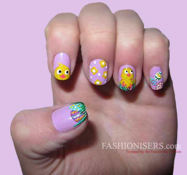 14 Cute Easter Nail Art Designs - 14 Cute Easter Nail Art Designs Fashionisers