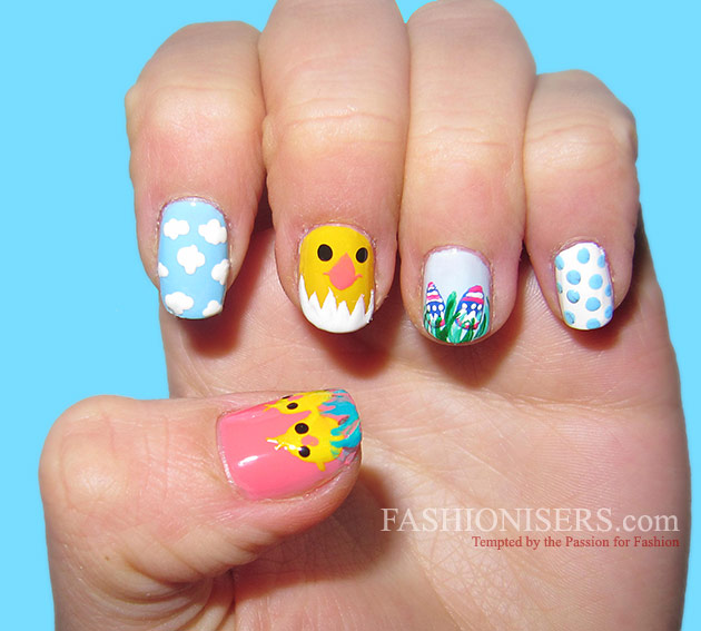 14 Cute Easter Nail Art Designs | Fashionisers