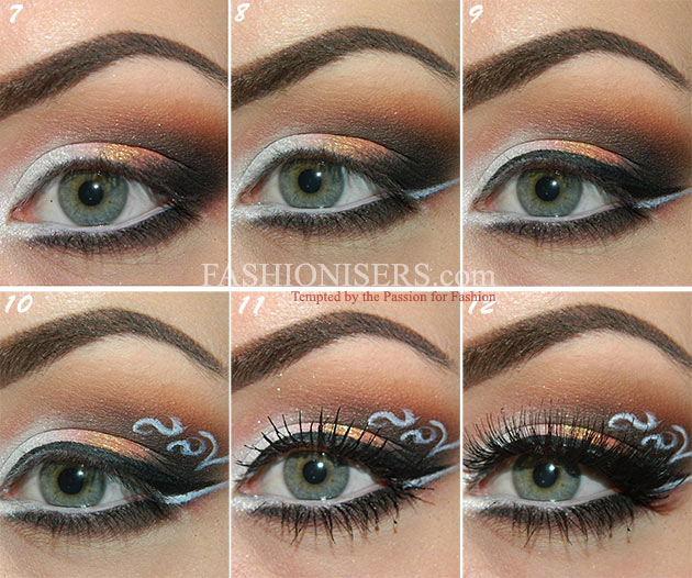 Lace Patterned Eye Makeup Tutorial Fashionisers
