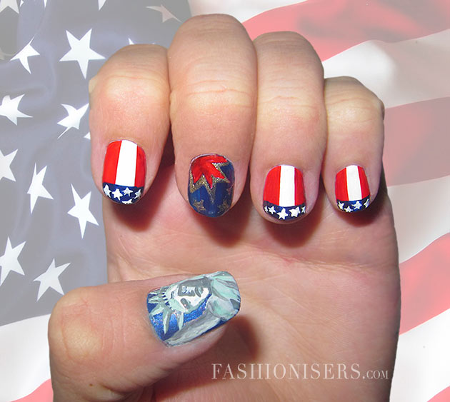 Fourth of July Nail Art Designs - Fourth Of July Nail Art Designs Fashionisers