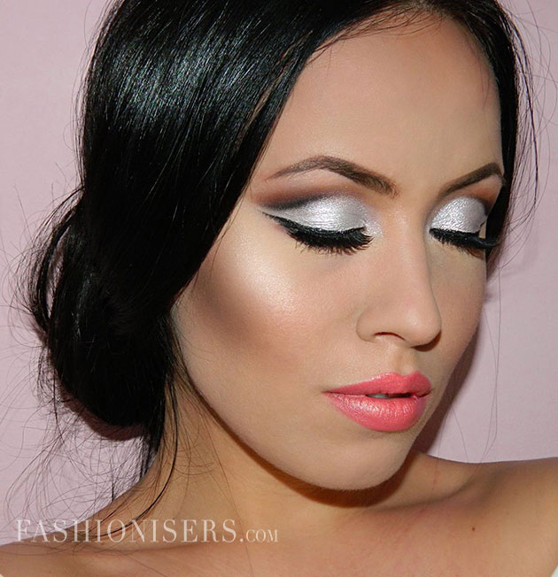 Metallic Silver Bridal Makeup Tutorial Fashionisers