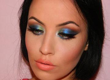 Sapphire Blue Smokey Eye Makeup Tutorial