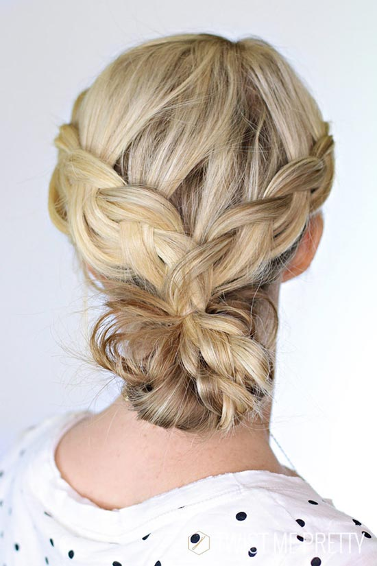 10 Pretty Hairstyles for Dirty Hair Days: Braided Bun