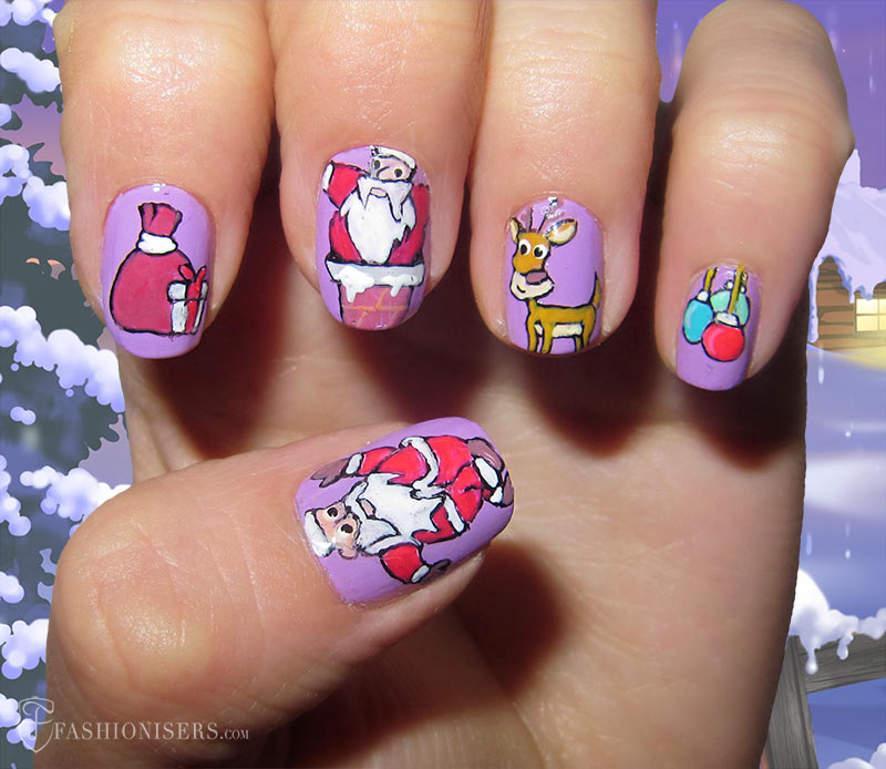 19 Unique Holiday Nail Art Designs: Santa Nails - 19 Unique Holiday Nail Art Designs Fashionisers
