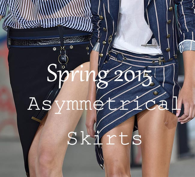 Spring 2015 Trend of Asymmetrical Hems Skirts: How to Wear