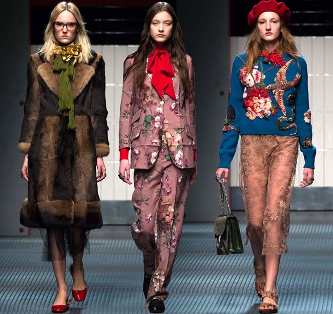 7198a0829dd Gucci Fall Winter 2015-2016 Collection – Milan Fashion Week ...