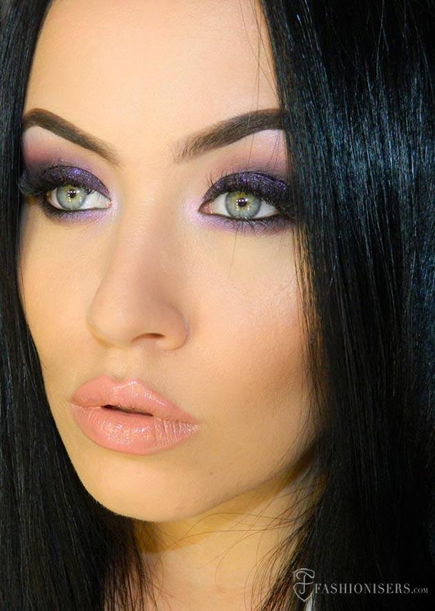 Deep Purple Smokey Eye Makeup Tutorial Fashionisers