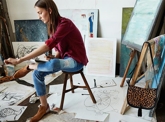 Julia Bergshoeff for Mango's Denim Dreams Line for Fall 2015