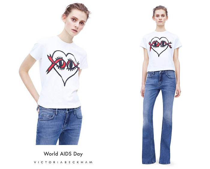 Victoria Beckham World AIDS Day T-Shirt,