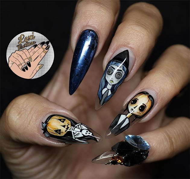 50 Awe-Inspiring Halloween Nail Art Designs - 50 Awe-Inspiring Halloween Nail Art Designs Fashionisers