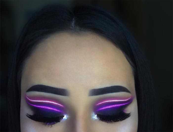 Neon Light Makeup Trend Ideas