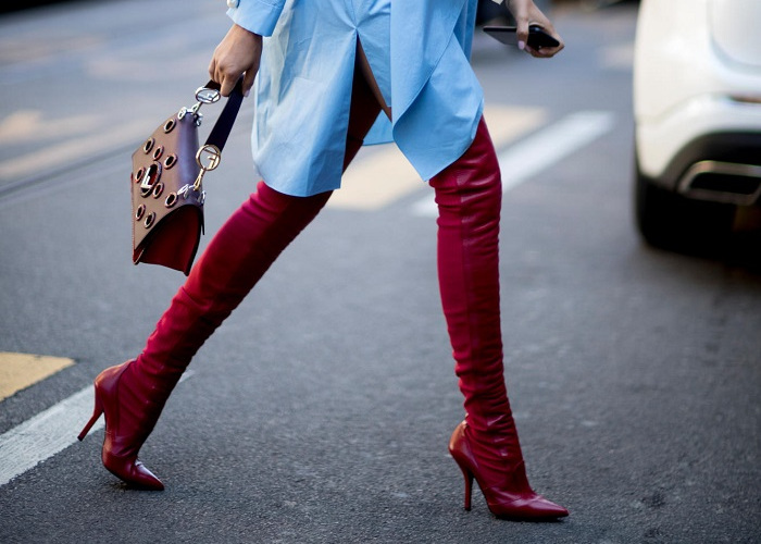 Red Boots Are This Fall's Must-Have 6