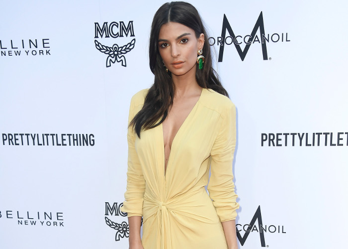 Emily Ratajkowski Stuns in Pale Yellow Dress