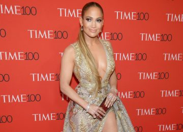 J Lo Pulls Off Plunging Neckline & Thigh-High Slit All At Once