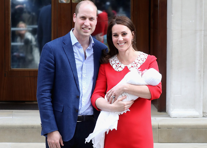 Kate Middleton Wears Red Dress for Her Forst Public Appearance With Baby No 3