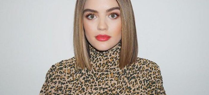 Lucy Hale Debuts The Prettiest Rose Gold Spring Hair Color