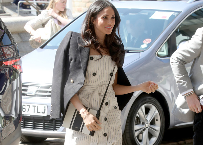 Meghan Markle Stuns in White Spring Dress