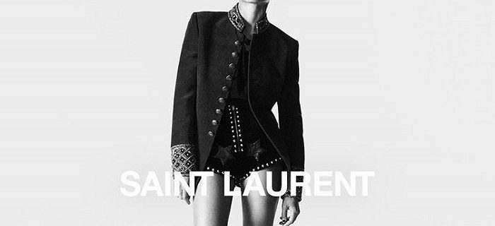 Zoe Kravitz & Kaia Gerber Front Saint Laurent's Fall 2018 Ads