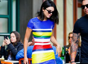 Stop Everything: Kendall Jenner Paired a Sequined Dress With Sneakers