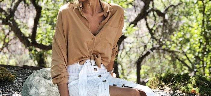 OOTW Summer Skirts And Tie Front Tops