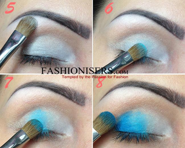 Party Makeup: Gradient Blue Cut Crease Eye Makeup Tutorial