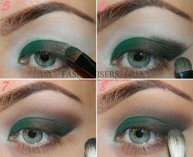 Emerald Green Smokey Eye Makeup Tutorial Fashionisers