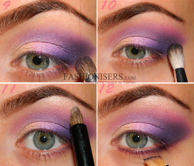Party Makeup: Lilac Purple Smokey Eye Makeup Tutorial. Step ...