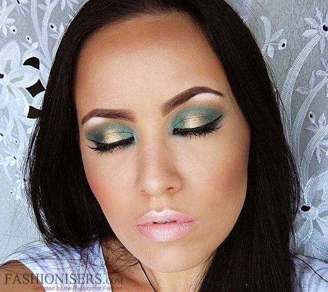 Emerald Green & Gold Makeup Tutorial