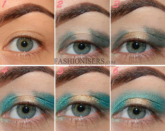 Emerald Green Gold Makeup Tutorial Fashionisers