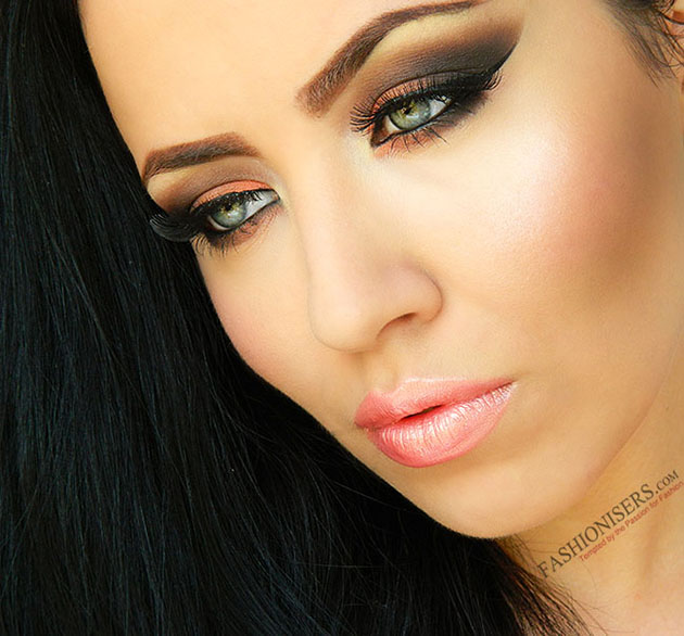 Orange Brown Smokey Eye Makeup Tutorial Fashionisers