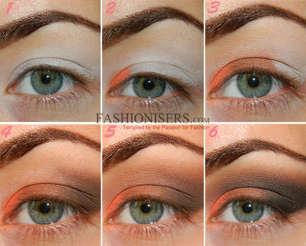 Orange Brown Smokey Eye Makeup Tutorial Fashionisers
