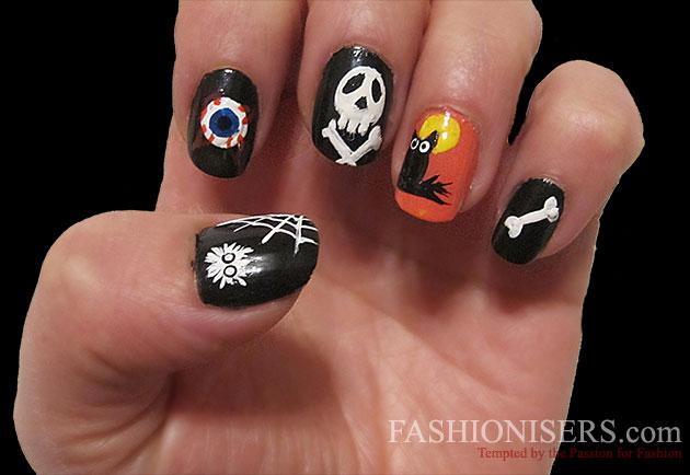 Last Minute Halloween Nail Art Designs