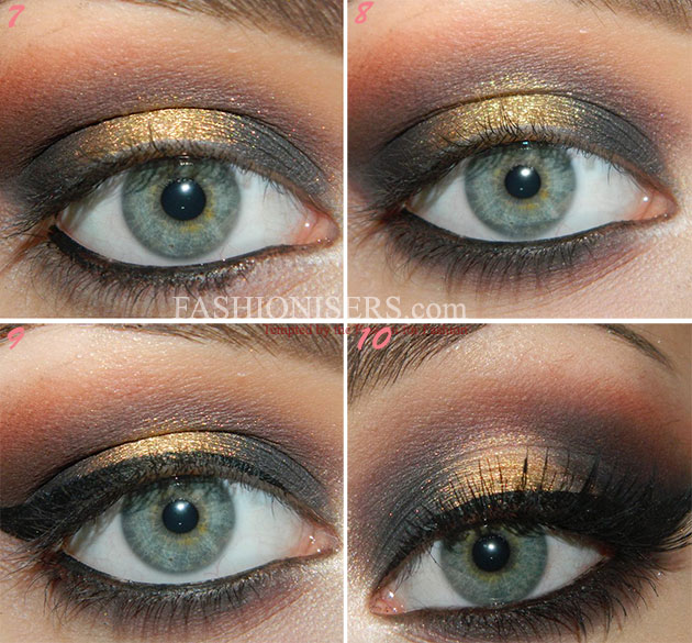Christmas Glittery Gold Makeup Tutorial