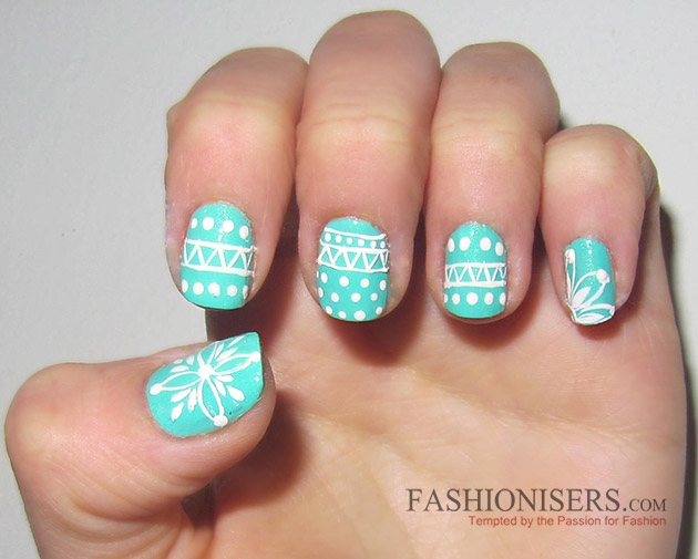 New Year's Eve Nail Art Designs - Winter Sweater Nails