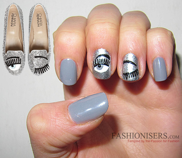 Chiara Ferragni Shoes Inspired Nail Art Designs: Blink Eyes Nails