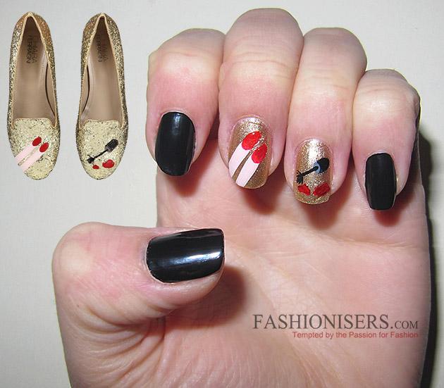 Chiara Ferragni Shoes Inspired Nail Art Designs: Nail Polish Nails