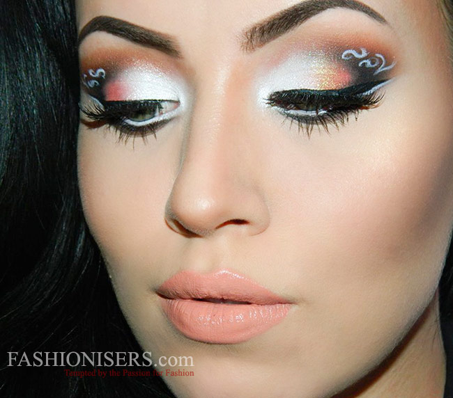 Lace Patterned Eye Makeup Tutorial