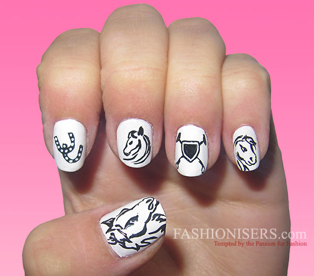 Cute Horse Nail Art Designs - Cute Horse Nail Art Designs Fashionisers©