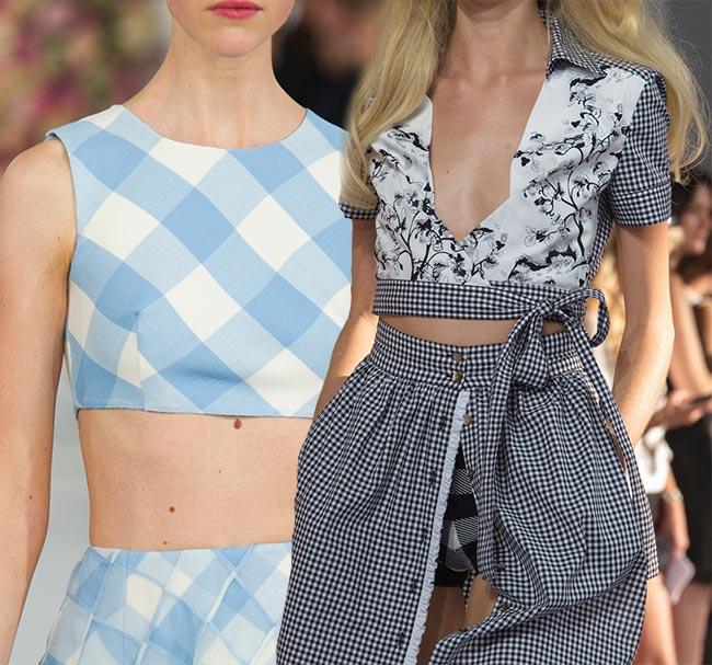 Gingham Print Trend for Spring/Summer 2015