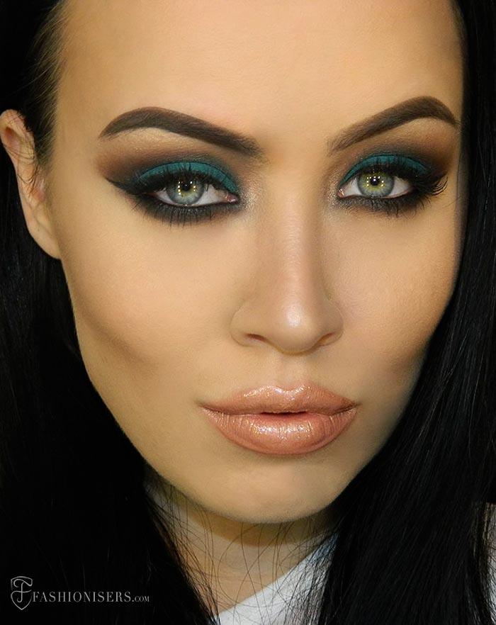 Emerald Green Eye Makeup Tutorial With A Matte Effect